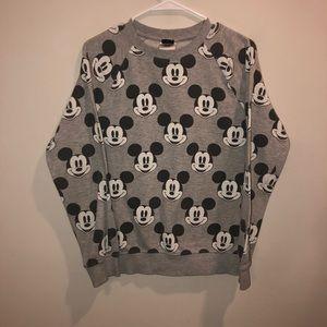 Disney Mickey Mouse Sweatshirt all over Print Gray